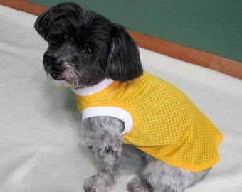 Yellow Jersey Mesh Sleeveless T Shirt