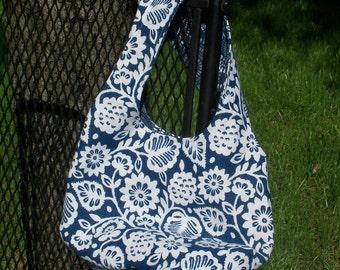 Small Reversible Blue & White Bag