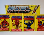 Masters of the Universe Trading Cards/Stickers made by Topps 1984 lot of 4 packs