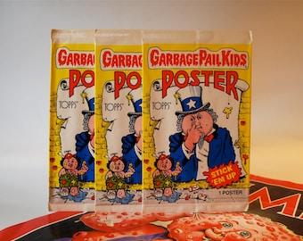 2 Garbage Pail Kids Poster Packs by Topps 1986
