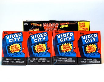 4 Video City Arcade Trading Card Packs by Topps