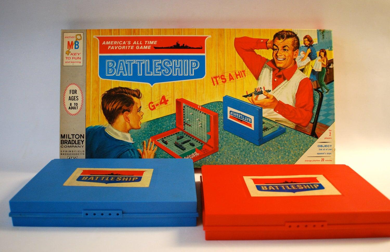 vintage battleship board game by milton bradley