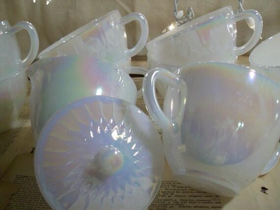 Federal Glass Moonglow Coffee set Mint unused