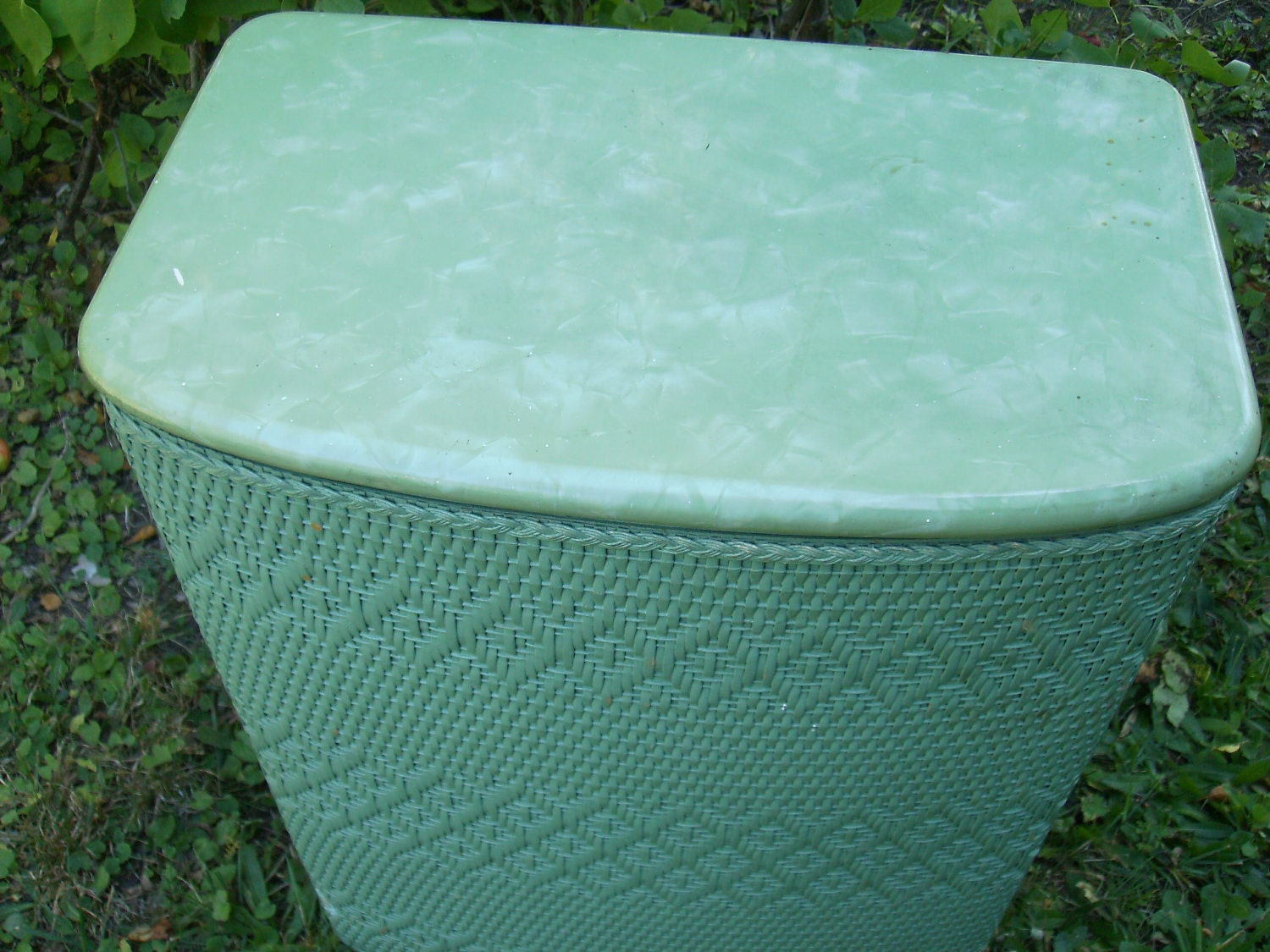 SALE Shabby Chic Turq Green Clothes Hamper All By