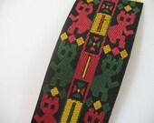 GEOMETRIC woven multi color ribbon  -  GREAT .