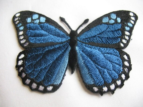 2 IRON ON BUTTERFLY  Appliques .