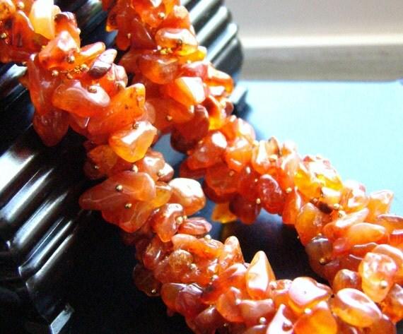Sale Carnelian Necklace - Wire Wrapped Gemstone