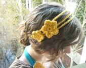 Triple Strand Crocheted Headband - Your Choice of COLOR and TYPE