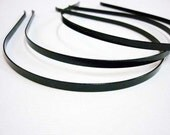 30pcs 3mm Finished stainless steel Antique Black Headbands Hairbands