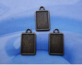 50pcs 18x12mm antiqued bronze photo frame charms