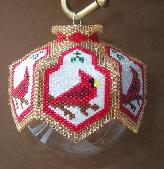 Cardinal rules beaded ornament cover e pattern