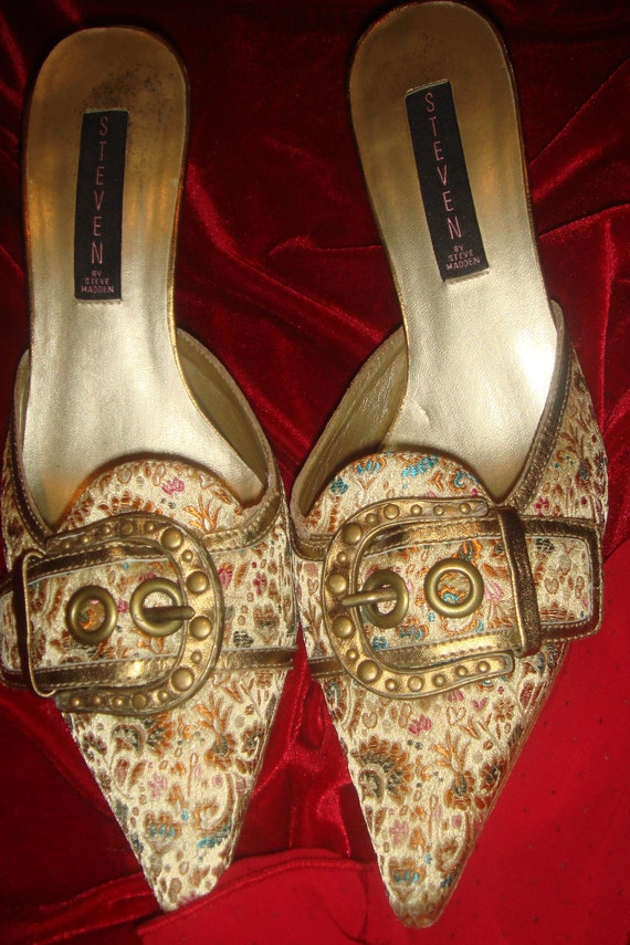 Let Them Eat Cake Marie Antoinette Designer Pointed Buckle Toe Inspired Baroque Colorful Ladies Shoes Pumps