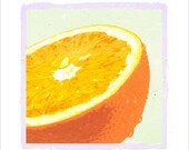 Kitchen art - Orange - 8x10  print - Food Art - Fruit print - Healthy living art - Kitchen decor