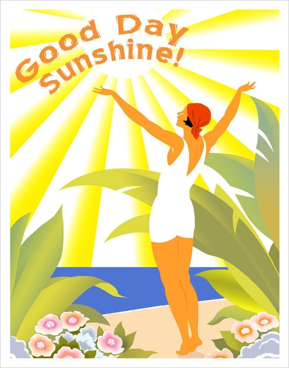 Good Day Sunshine Dailymotion : Good day sunshine print