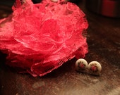 Hot Pink Gift Set Hair Clip & earrings