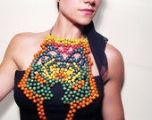 Colorful Wood Bead Breastplate RESERVED for LaFlamenca