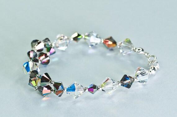 SUMMER SALE - Swarovski crystal bracelet / Glittering xilion swarovski crystal beads bracelet