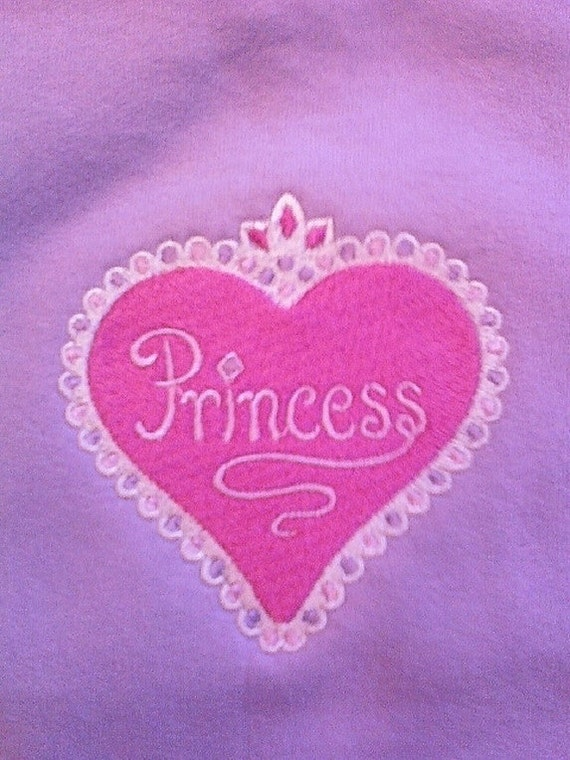 Toddler Sweatshirt 4T Purple Princess Pink  Heart Toddler 4T  Embroidered  Gift Ideas for Girls