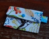 Mini Wallet in Hummingbird Flowers