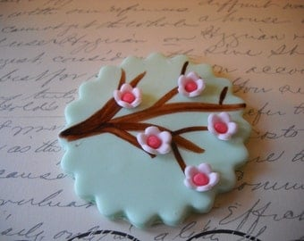 Cherry Blossoms Edible Cake and Cupcake Topper Set of 12