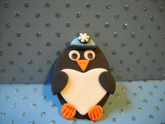 Penguin Cupcake Toppers -Set of 12