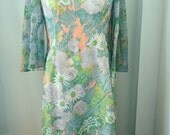 1970s Pastel Maxi Dress for Saks Fifth Avenue