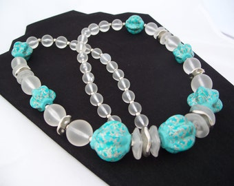 1960s Extra Long Lucite Necklace Japan