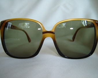 Vintage '80's Oversize Sunglasses, Square Shape, Brown, Germany, New Old Stock