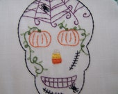 Sugar Skull  Patterns with a Halloween Twist