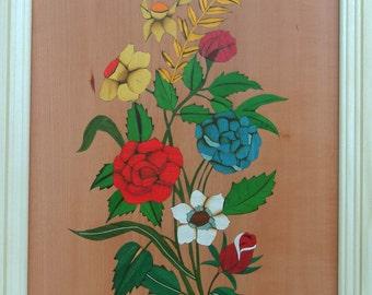 framed floral image