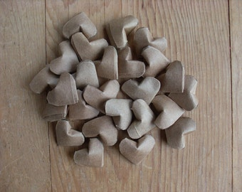 Kraft Paper Origami Hearts, set of 24.