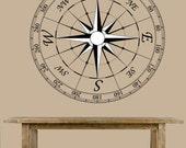 wall decal - Nautical Compass - wall art