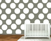 nursery wall decal  -  Polka Dot stickers - wall vinyl decals