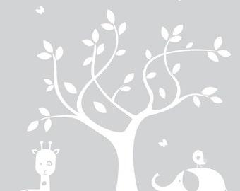 Vinyl Wall Decals - Children's Tree Decal - Nursery Wall Art