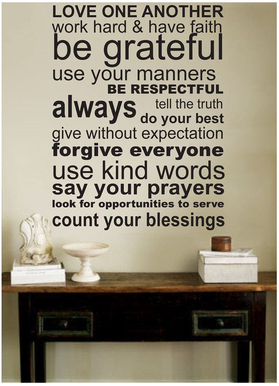 Quotes About Love One Another : decal wall stickers LOVE ONE ANOTHER wall by ModernWallDecal