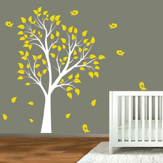 Baby Nursery Wall Decals Nursery Garden Tree by ModernWallDecal