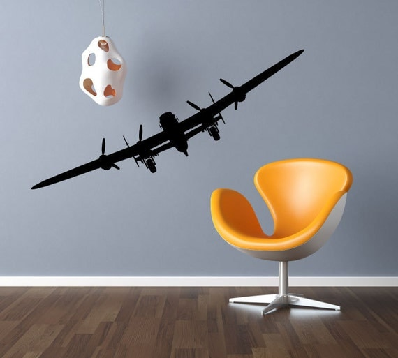 Airplane vinyl decals aviation wall decor by modernwalldecal for Aircraft decoration