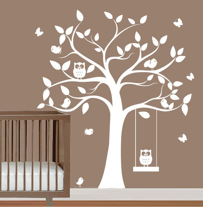 babies nursery tree wall decal tree silhouette by white tree silhouette wall sticker blowing tree by