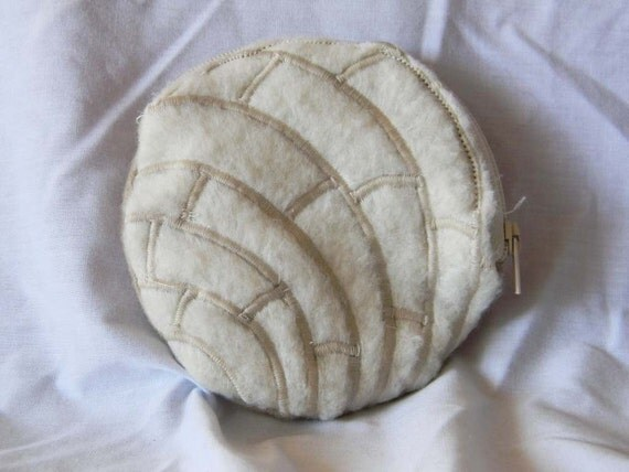 Vanilla Pan Dulce Mexican Sweet Bread Concha Zippered Coin Purse