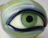 SOLD Green Eyed Glass Pipe
