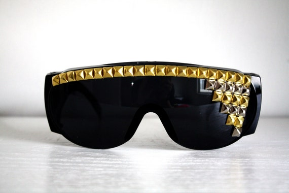 Studded Sunglasses - Silver and Gold