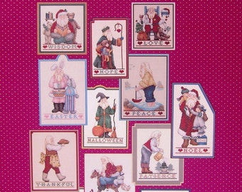Counted Cross Stitch Pattern Booklet Alma Lynne Designs THE SANTA MONTHLY