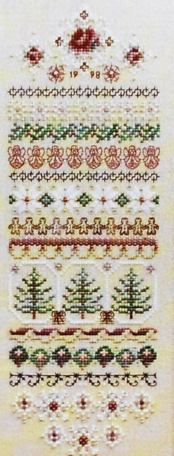 Exquisite Just Nan CHRISTMAS MEMORIES Band SAMPLER & Embellishment Accessory Pack Kit - Counted Cross Stitch Pattern Chart