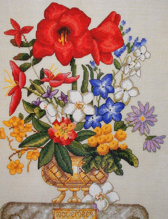 Marie Barber FLOWER OF The MONTH November - Counted Cross Stitch Pattern Chart - By Just Cross Stitch