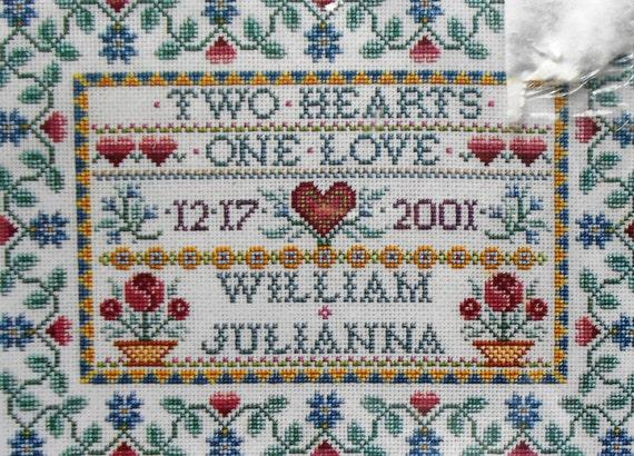 Joan Elliott HEIRLOOM WEDDING SAMPLER By Janlynn - Counted Cross Stitch Kit