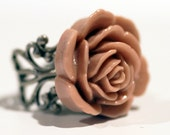 Dusty Rose Filigree Ring