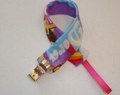 Purple Dora Pacifier Clip