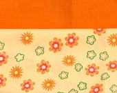 Orange Flowers Personalized Bible Tote by The Frazzled Stitch