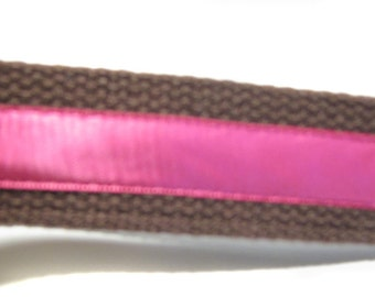 Pink and Brown Key Fob Wrislet Keychain