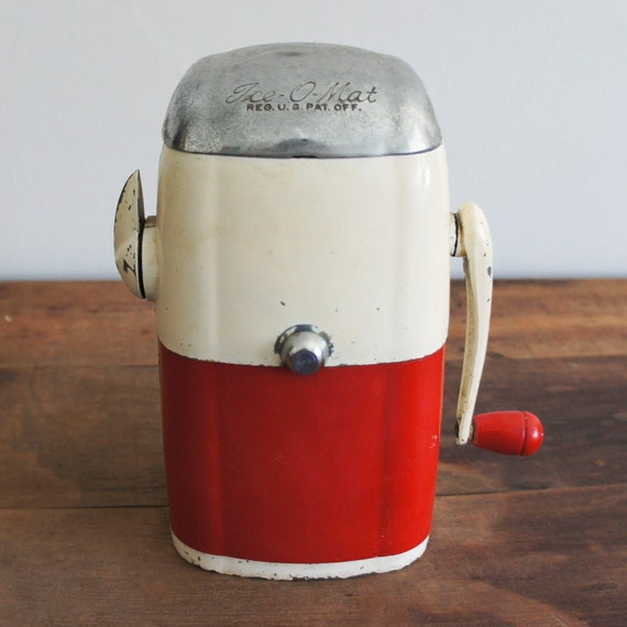 Vintage Red Ice-O-Mat Ice Crusher